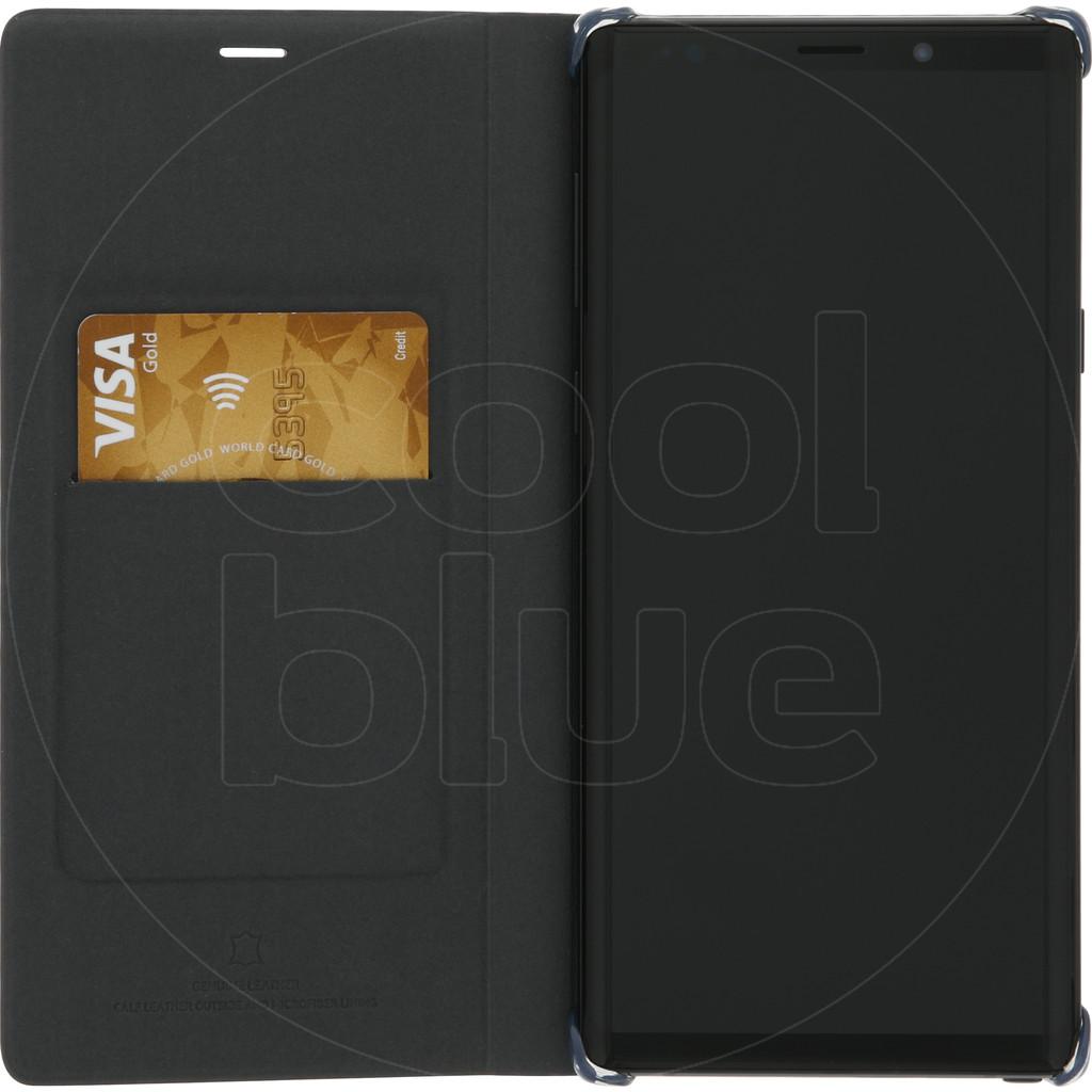Samsung Galaxy Note 9 Étui portefeuille en cuir Noir