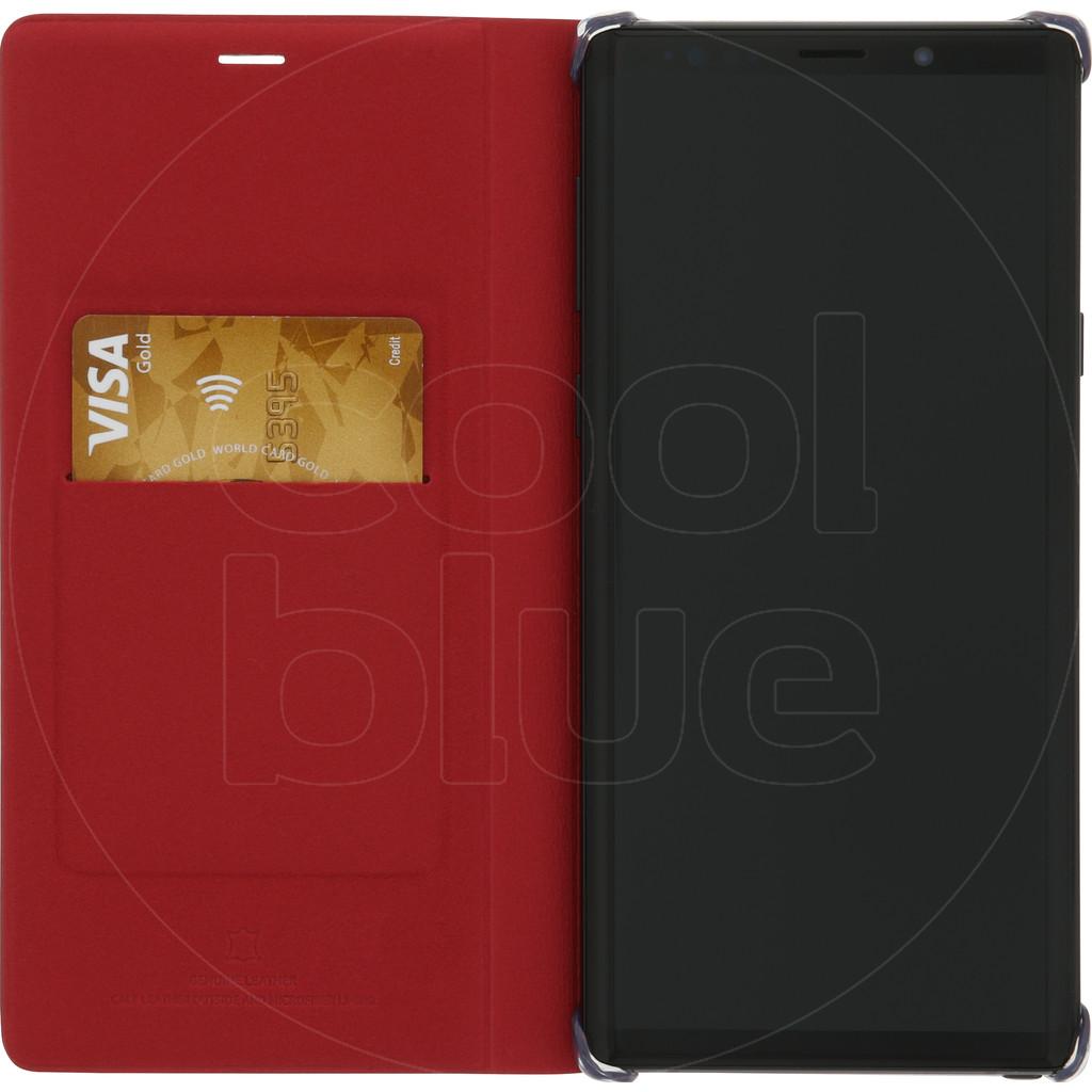 Samsung Galaxy Note 9 Étui portefeuille en cuir Rouge