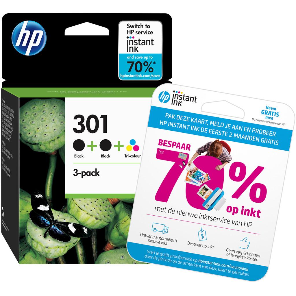 HP 301 Cartouche d'encre Lot de 3