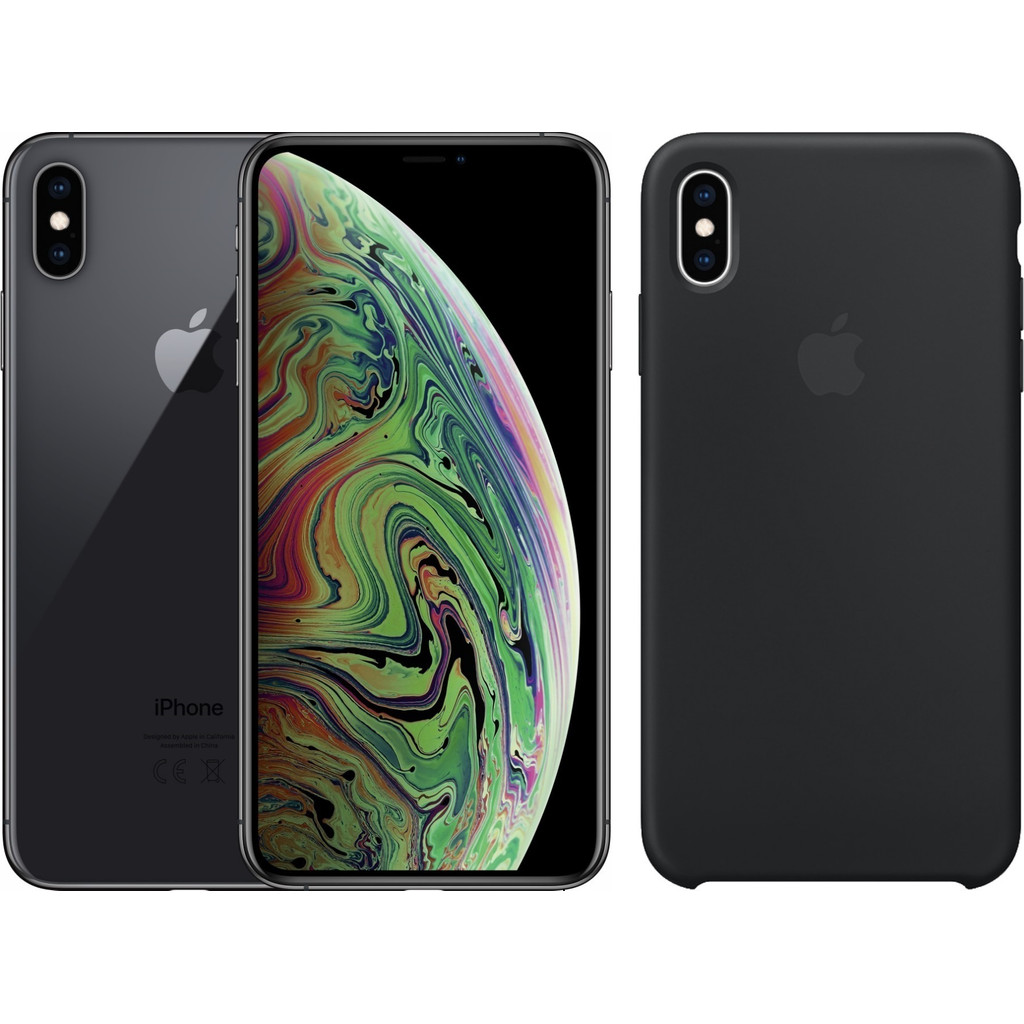 Apple iPhone Xs Max 64 GB Space Gray + Silicone Back Cover