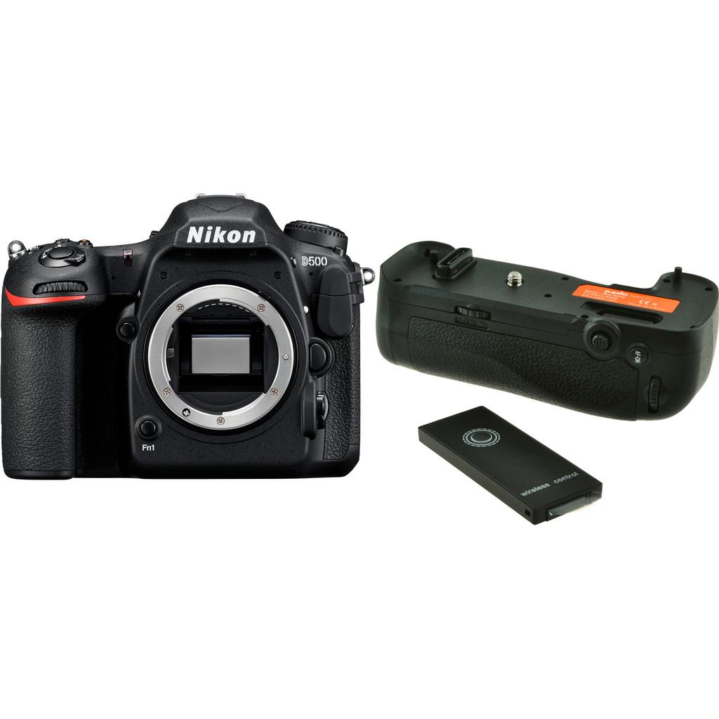 Nikon D500 Boîtier + Jupio Battery Grip JBG-N014