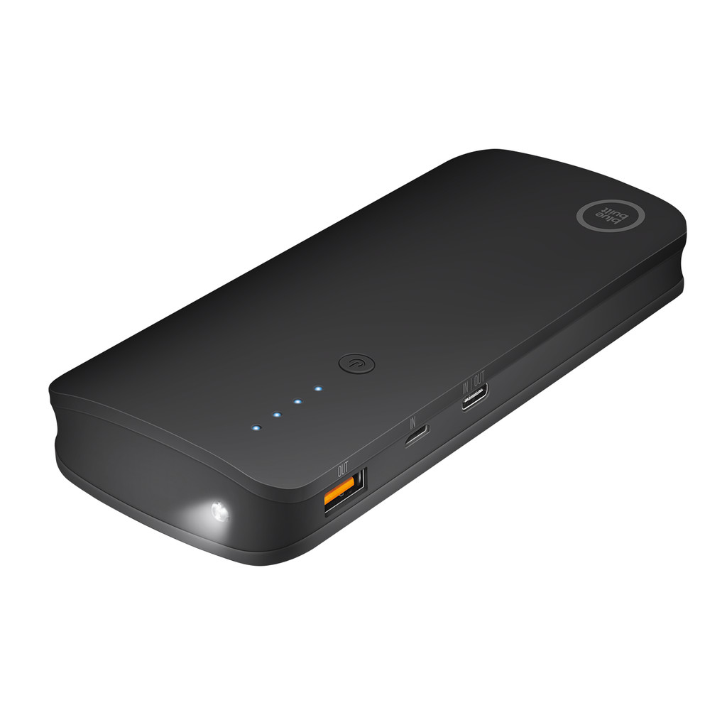 BlueBuilt Batterie externe 10 000 mAh Quick Charge 3.0 Noir