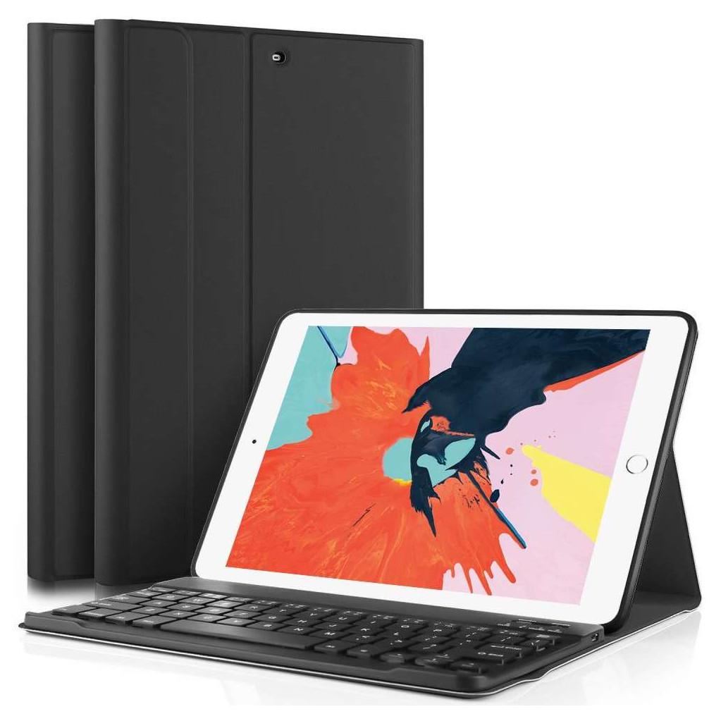 Just in Case Premium Apple iPad 9,7 pouces (2017/2018) Noir AZERTY