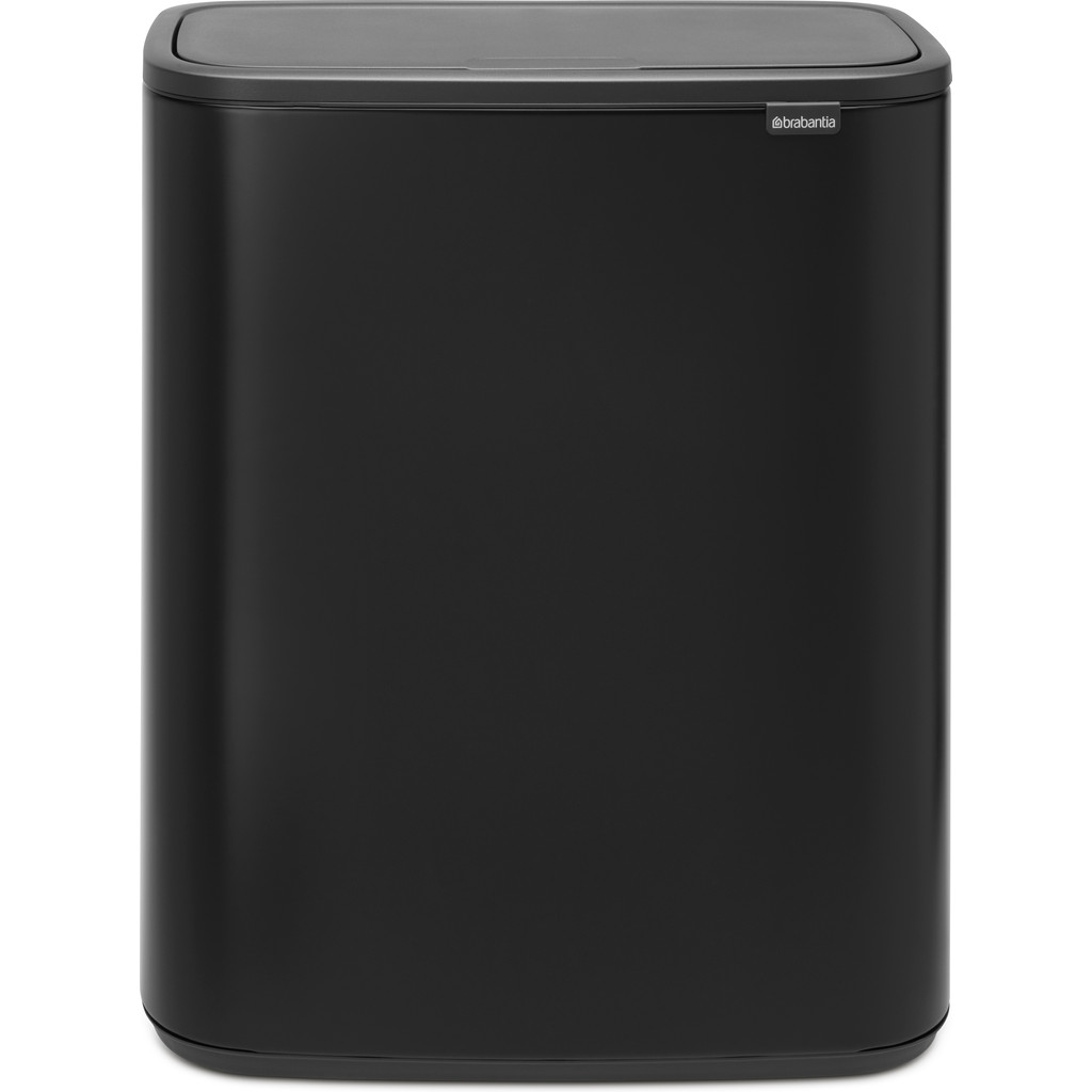 Brabantia Bo Touch Bin 2 x 30 Litres Noir Mat