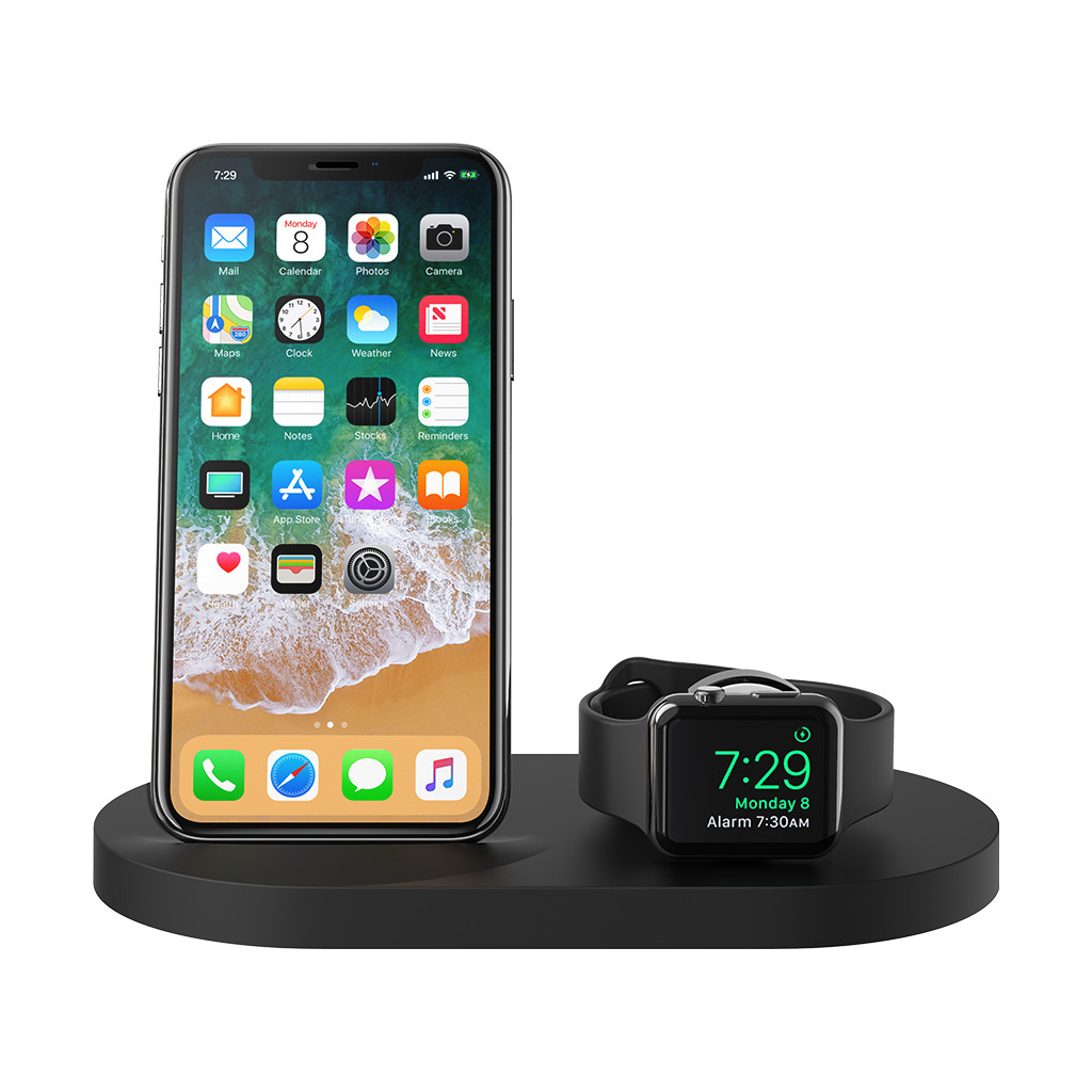 Belkin Boost Up Chargeur sans fil avec port USB-A iPhone/Apple Watch Noir