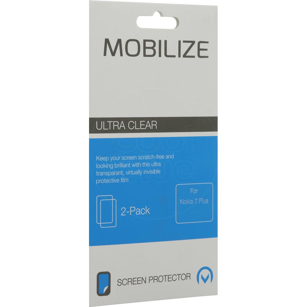 Mobilize Nokia 7 Plus Protège-écran Plastique Lot de 2