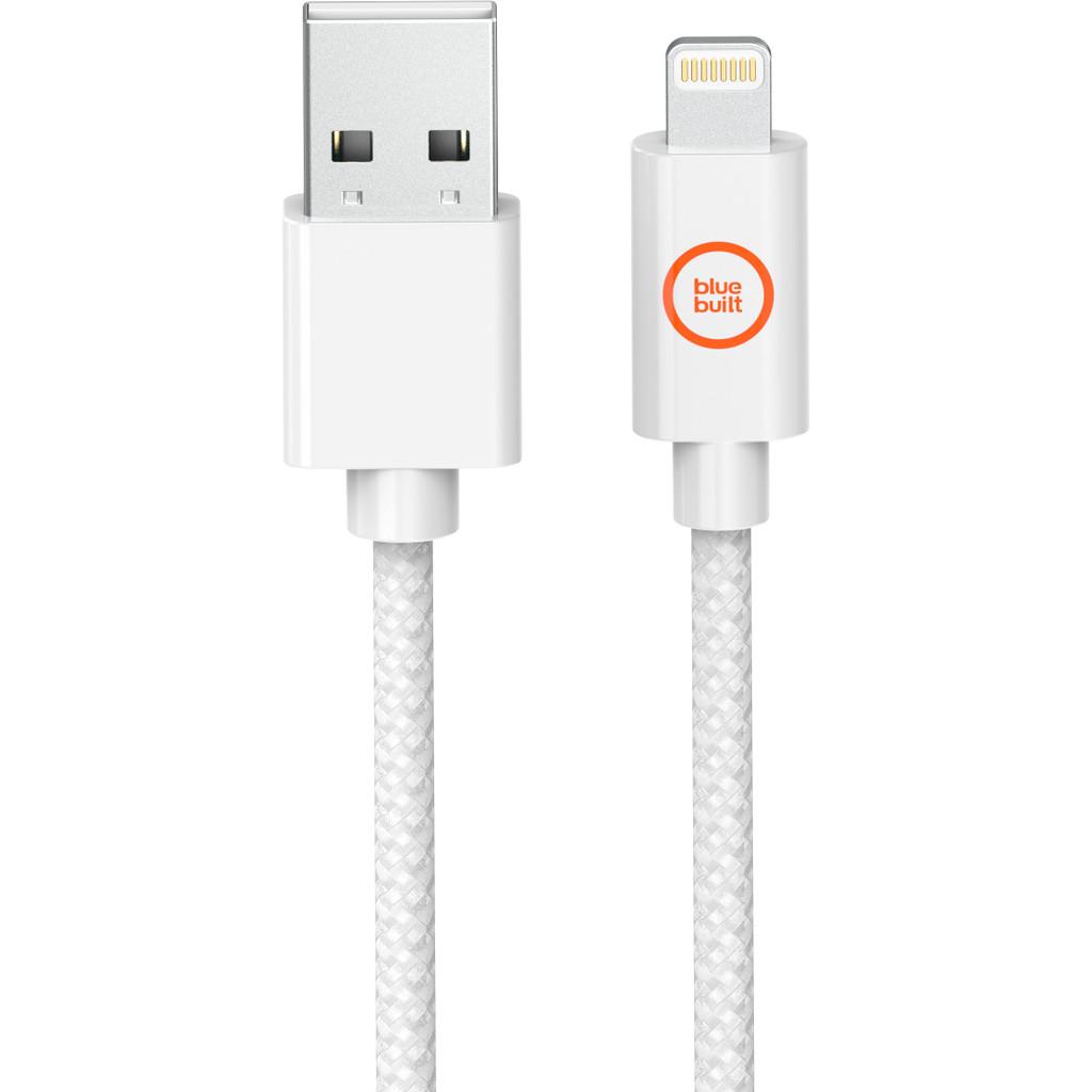 BlueBuilt Câble Lightning vers USB-A Blanc 2,5 mètres