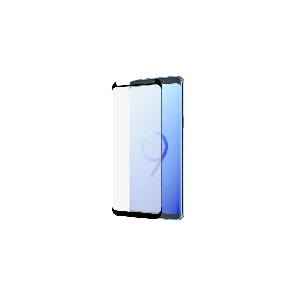 Azuri Protège-écran Incurvé en Verre Trempé Samsung Galaxy S9 Plus Noir