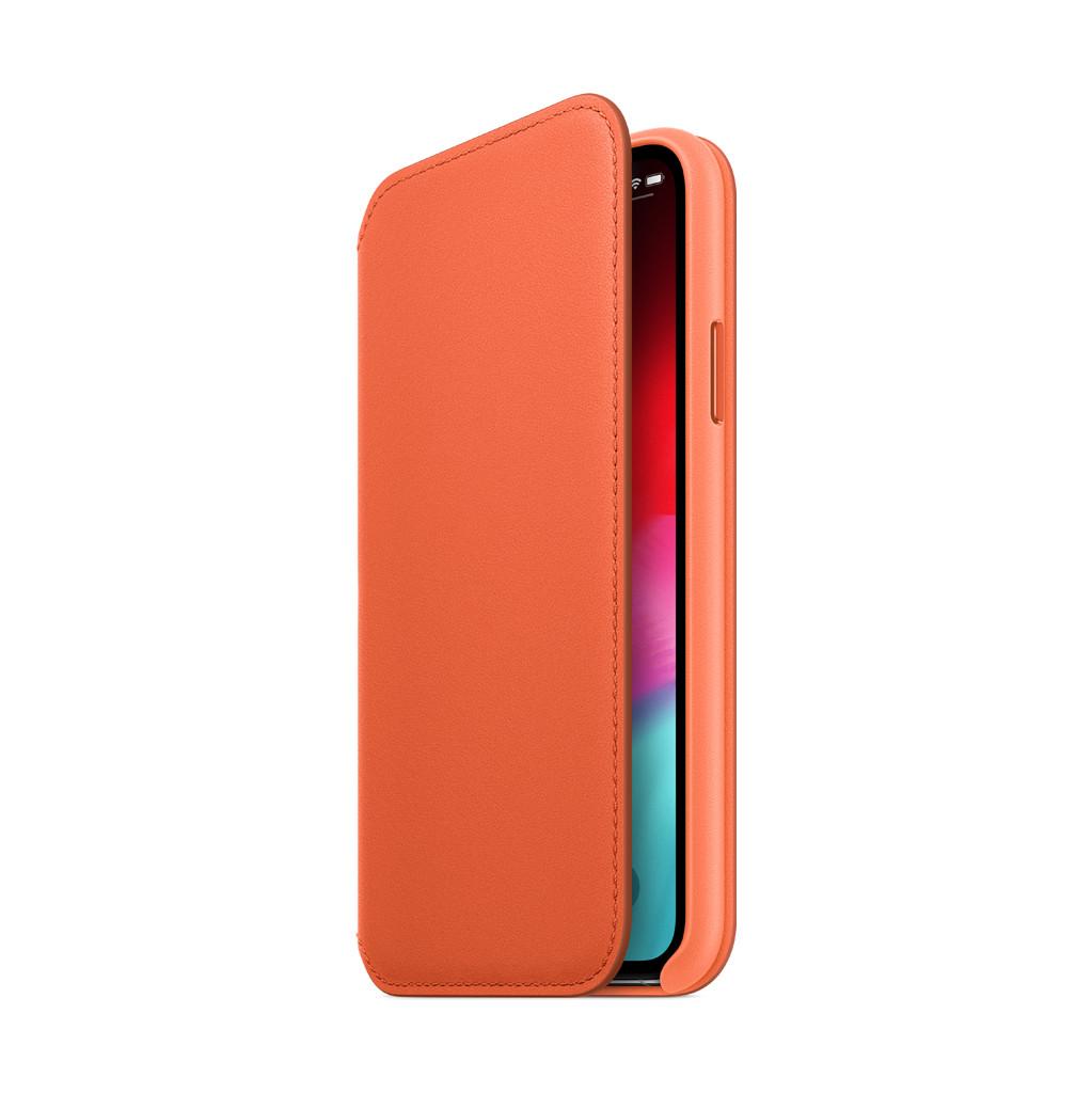 Apple iPhone Xs Folio Cuir Coucher de soleil