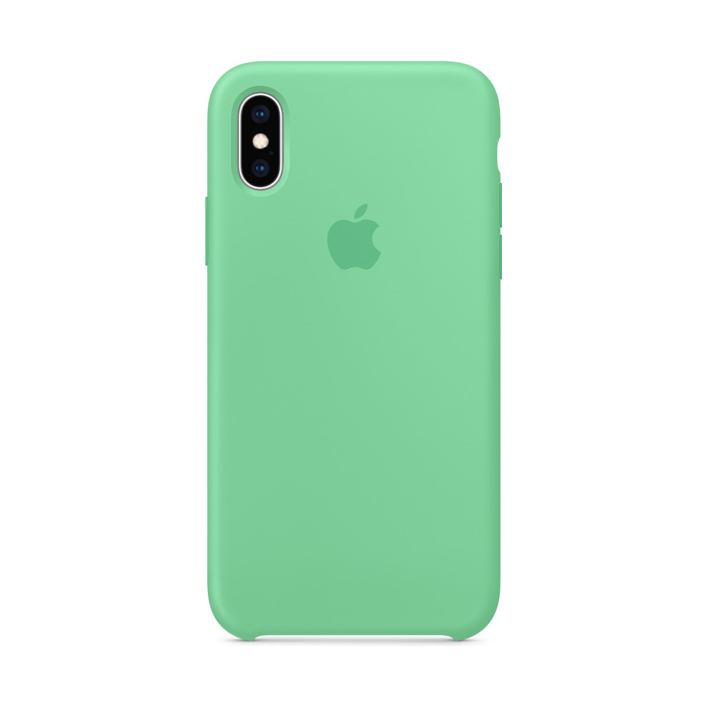 Apple iPhone Xs Coque Silicone Menthe verte