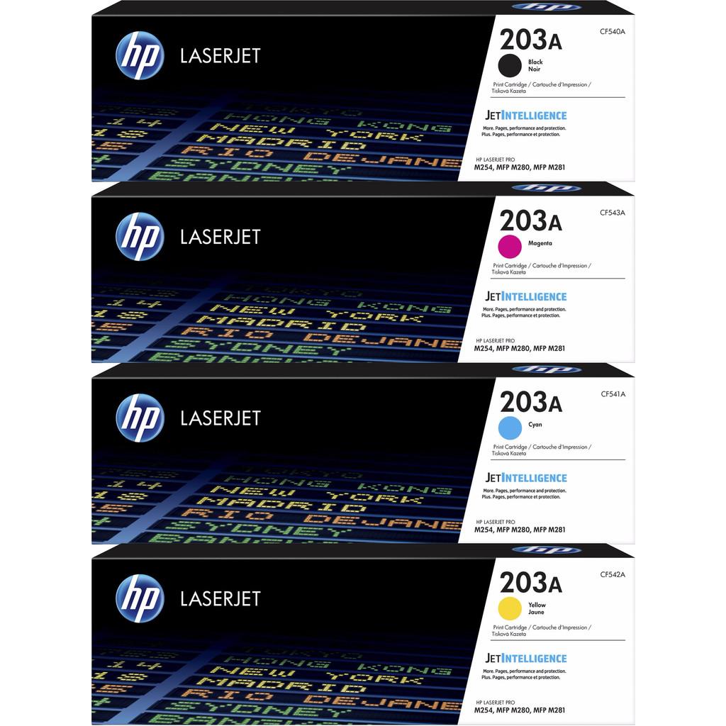 HP 203A Pack combiné Toner 4 couleurs