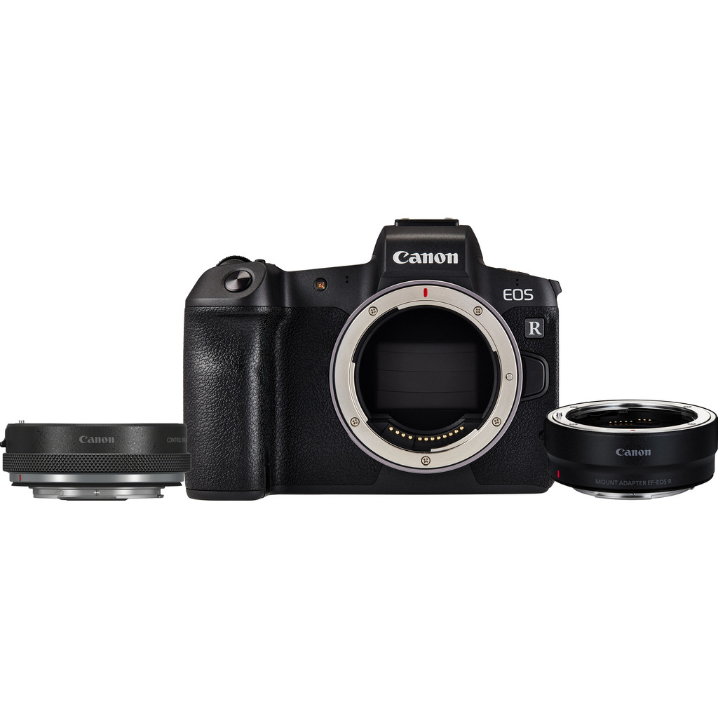Canon EOS R + Adaptateur EF-EOS + Adaptateur avec Bague de réglage