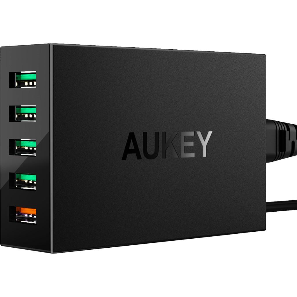 Aukey Station de charge USB-A avec 5 Ports 7.2A Quick Charge Noir