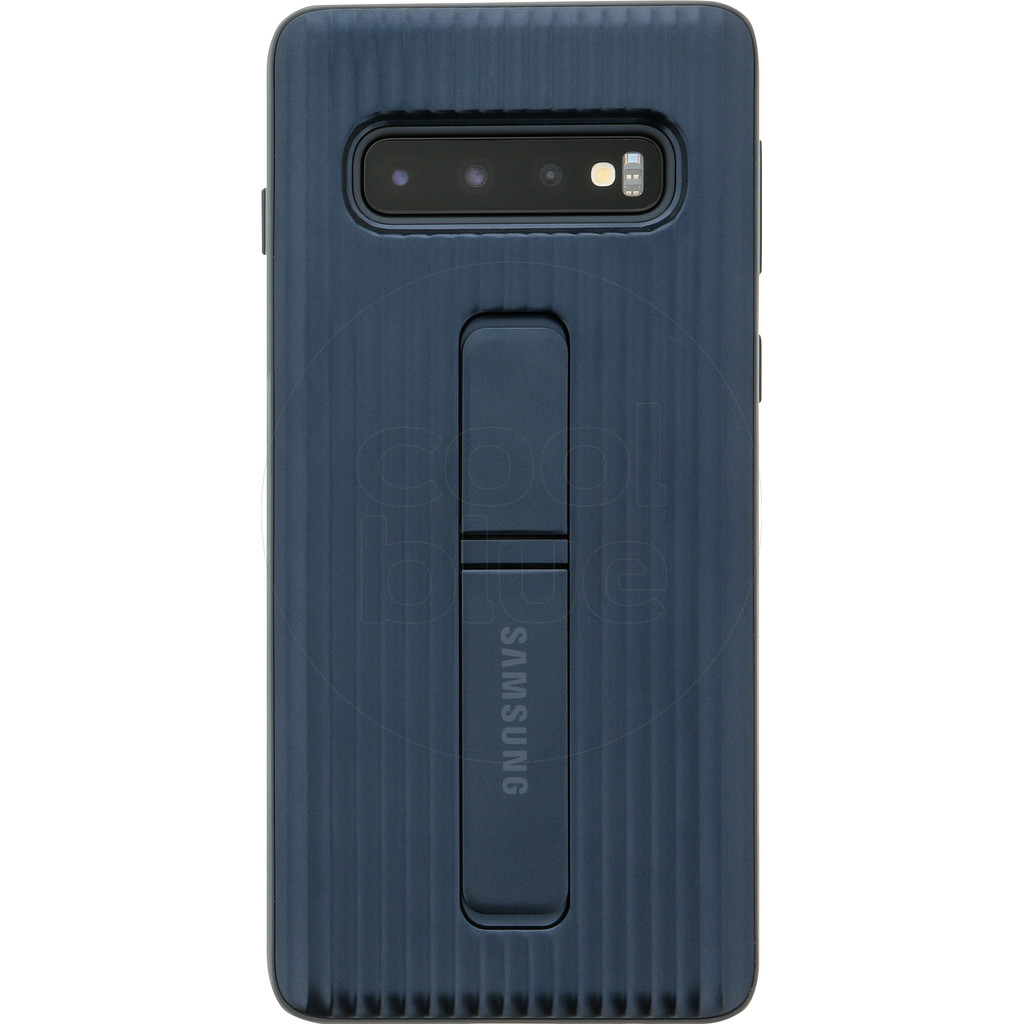 Samsung Galaxy S10 Protect Stand Back Cover Zwart
