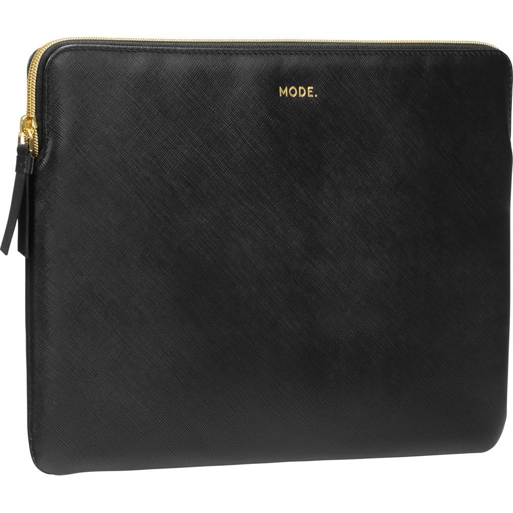 dbramante1928 Paris 13 inch MacBook Sleeve Leer Zwart / Breedte laptop 29 cm - 30,5 cm