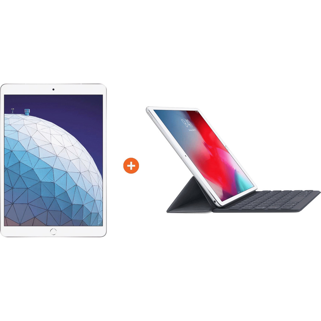 Apple iPad Air (2019) 10,5″ Zilver 64GB Wifi + Smart Keyboard AZERTY