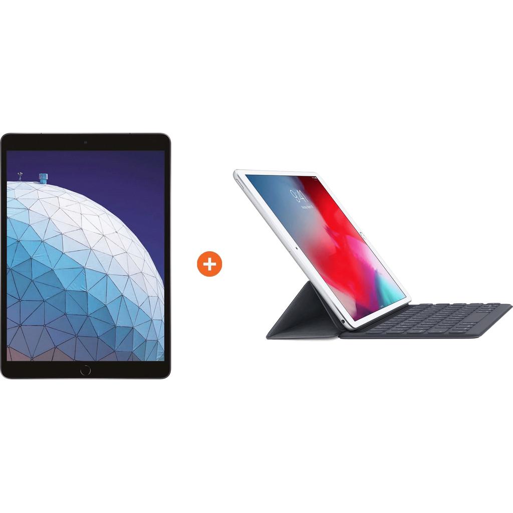 Apple iPad Air (2019) 10,5″ Space Gray 64GB Wifi + 4G + Smart Keyboard AZERTY