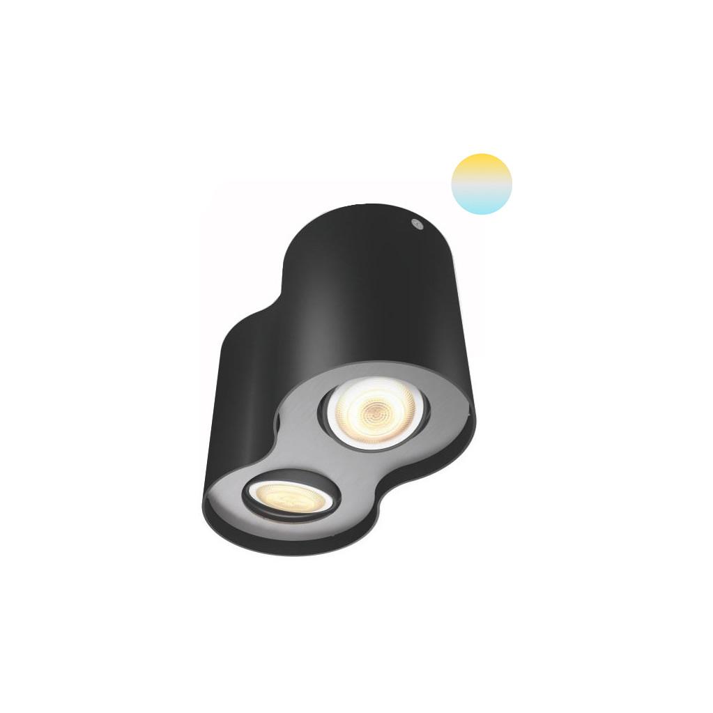 Philips Hue Pillar 2-Spot Zwart met Dimmer