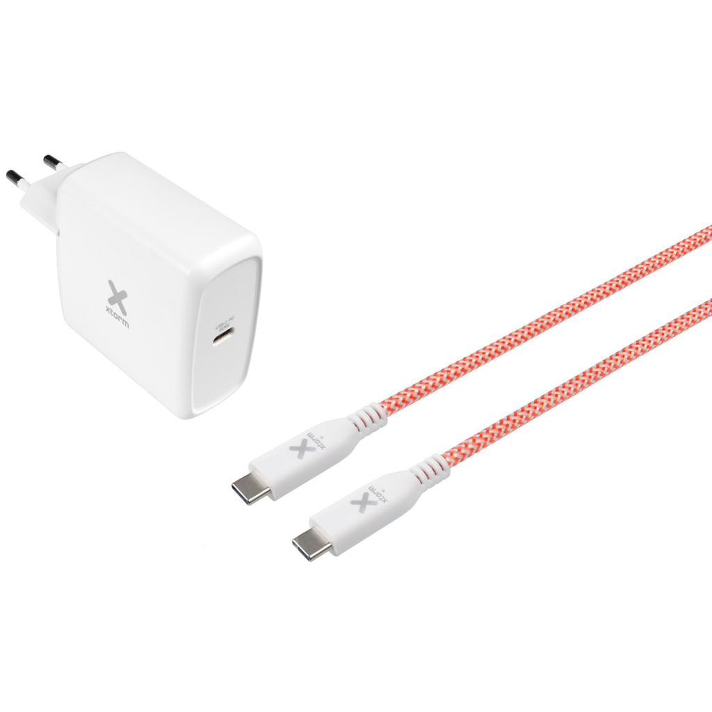 Xtorm Oplader met Kabel 1m Usb C 60W Power Delivery 3.0 Wit