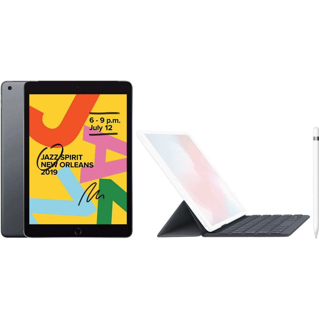 Apple iPad (2019) 128 GB Wifi Space Gray + Smart Keyboard AZERTY + Pencil