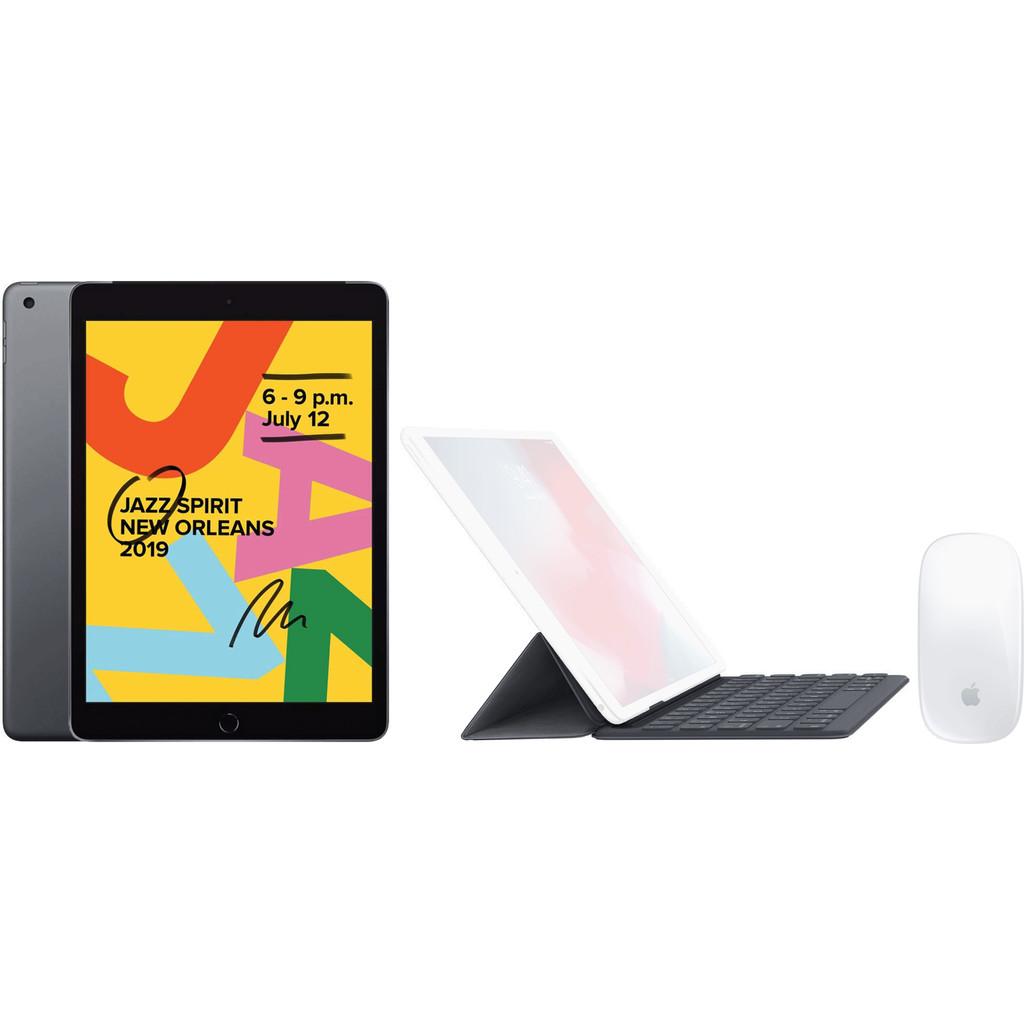 Apple iPad (2019) 32 GB Wifi Space Gray + Smart Keyboard AZERTY + Magic Mouse