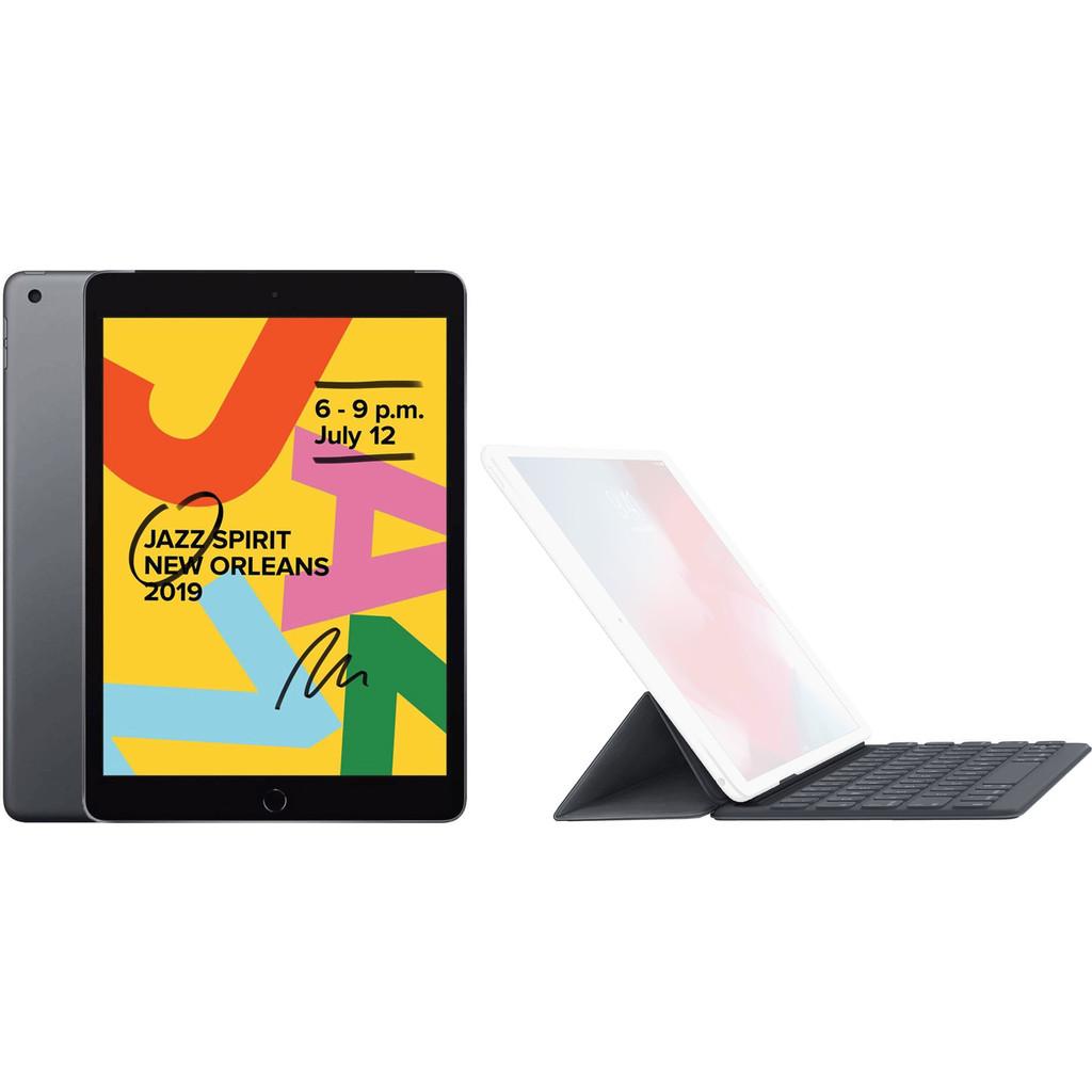 Apple iPad (2019) 128 GB Wifi Space Gray + Smart Keyboard AZERTY