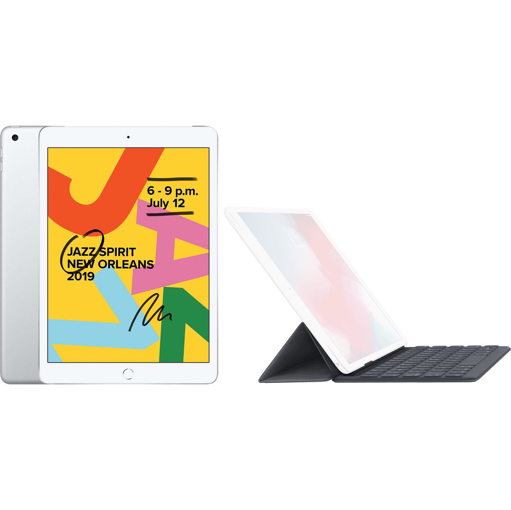 Apple iPad (2019) 128 GB Wifi Zilver + Smart Keyboard AZERTY