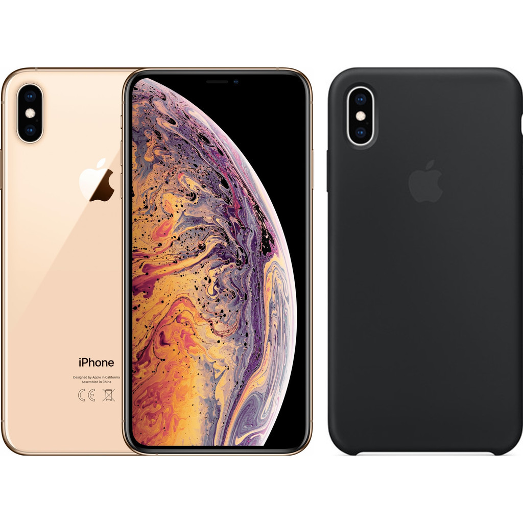 Apple iPhone Xs Max 256 GB Goud + Silicone Back Cover
