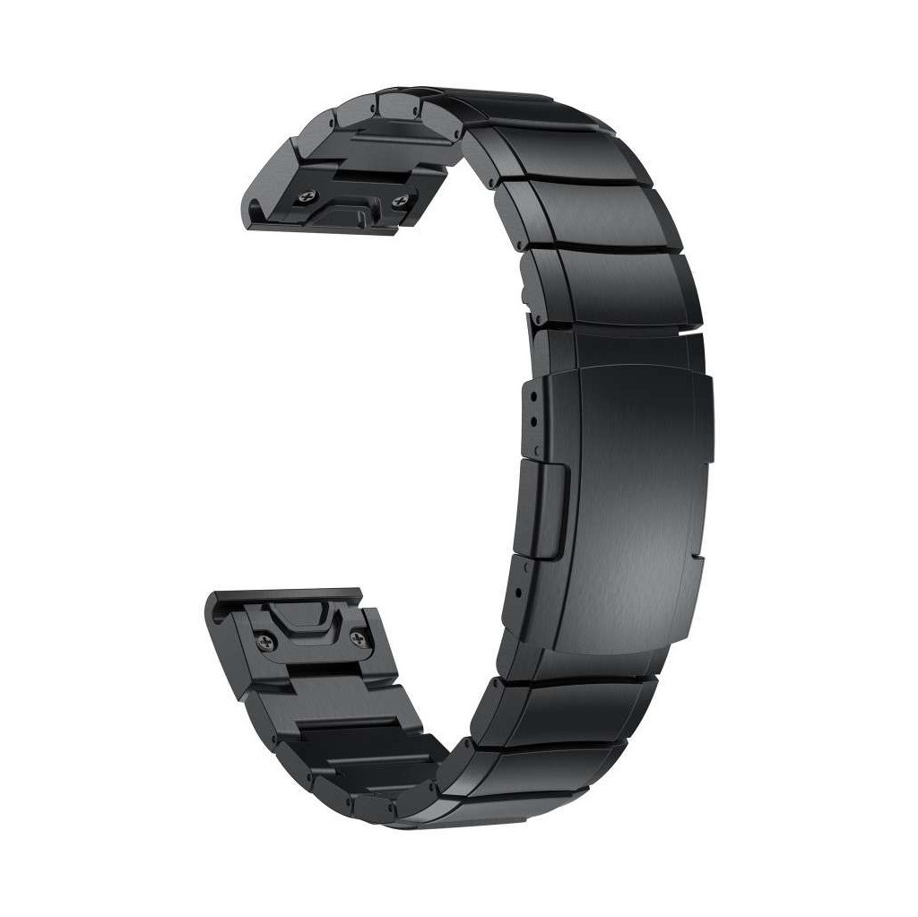 Just in Case Garmin Fenix 6X / 6X PRO RVS Bandje Zwart