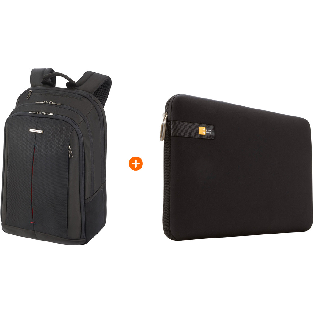 Samsonite GuardIt 2.0 17'' Black + Case Logic Laptop Sleeve