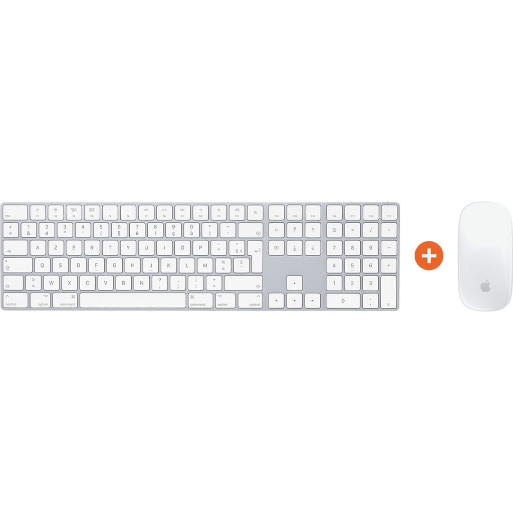Apple Magic Keyboard Azerty + Apple Magic Mouse Wit