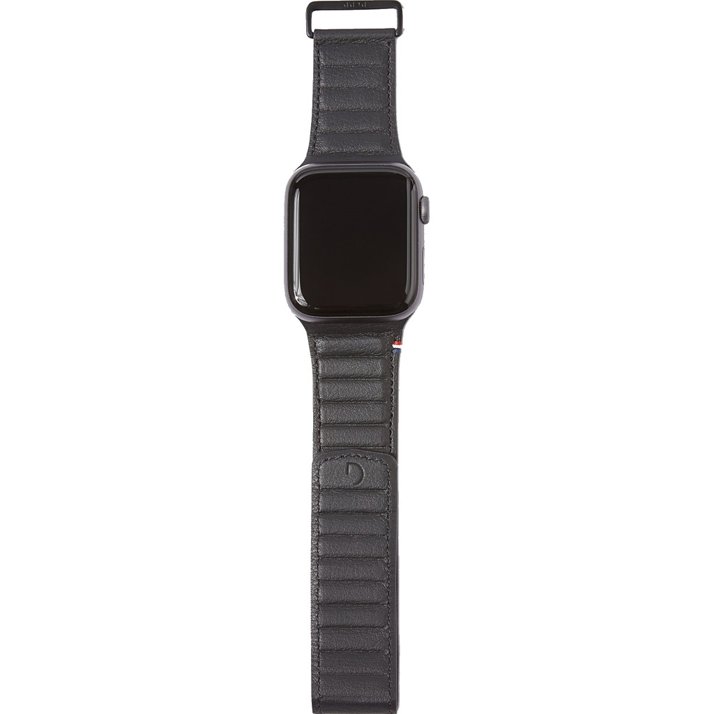Decoded Apple Watch 44mm/42mm Leren Bandje Zwart
