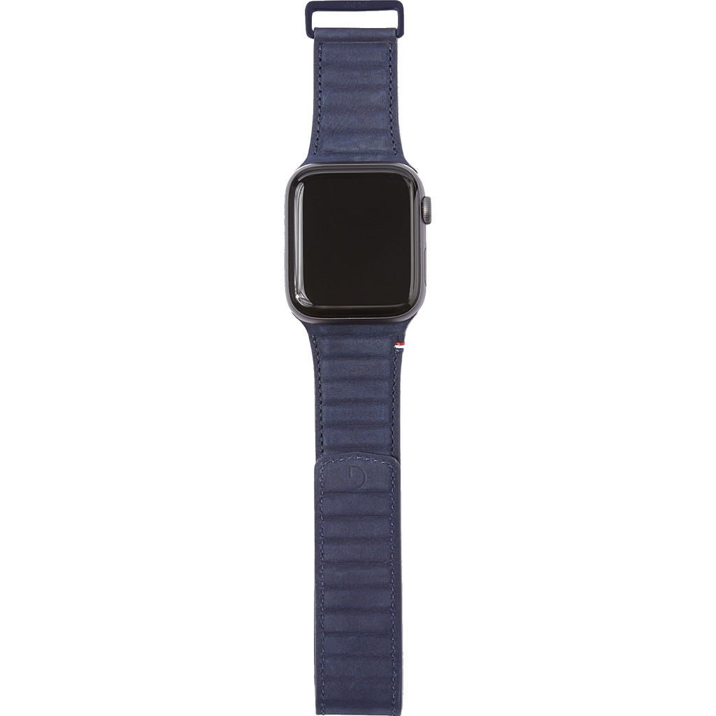 Decoded Apple Watch 44mm/42mm Leren Bandje Blauw