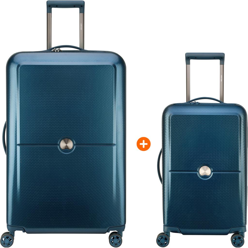 Delsey Turenne 55cm + 75cm Spinner Blauw Kofferset