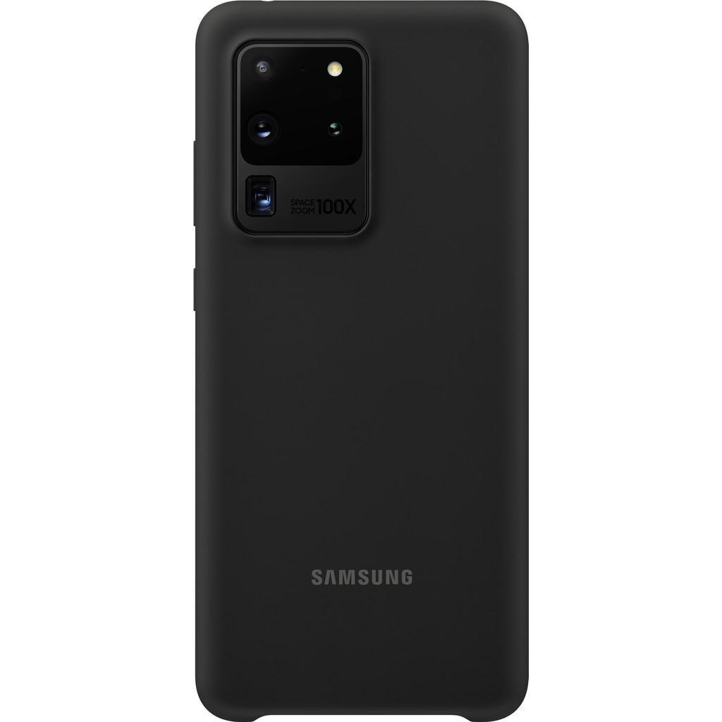 Samsung Galaxy S20 Ultra Silicone Back Cover Zwart
