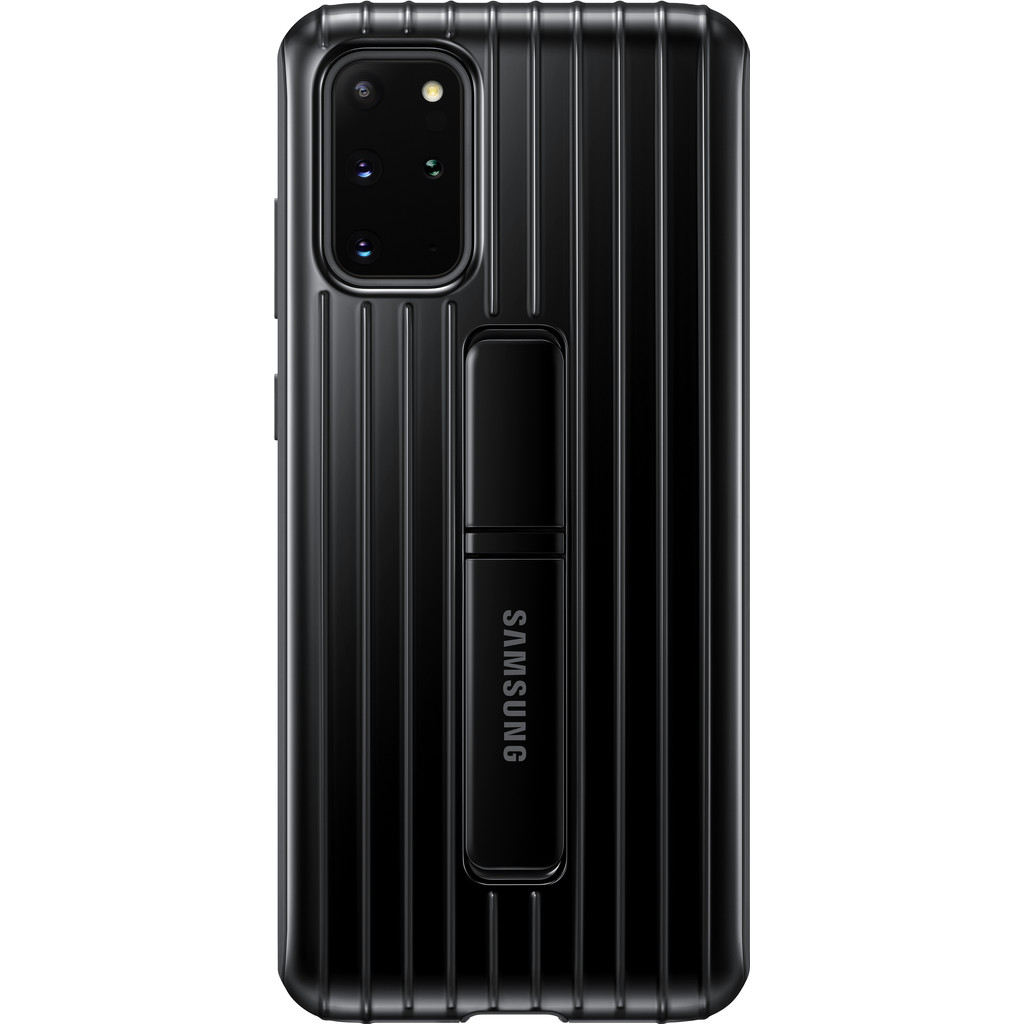 Samsung Galaxy S20 Plus Protective Standing Back Cover Zwart
