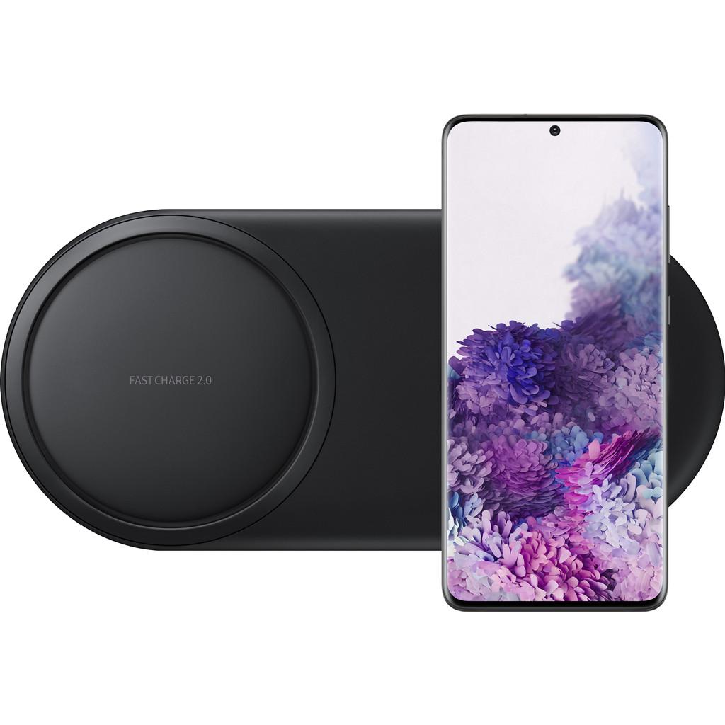 Samsung Galaxy S20 Plus 128GB Zwart 5G + Samsung Draadloze Oplader DUO Pad Zwart