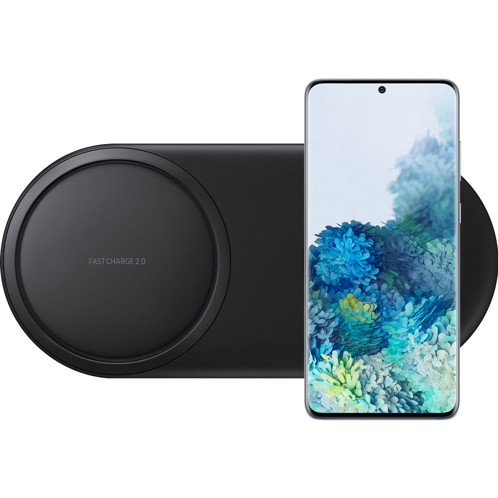 Samsung Galaxy S20 Plus 128GB Blauw 4G + Samsung Draadloze Oplader DUO Pad Zwart