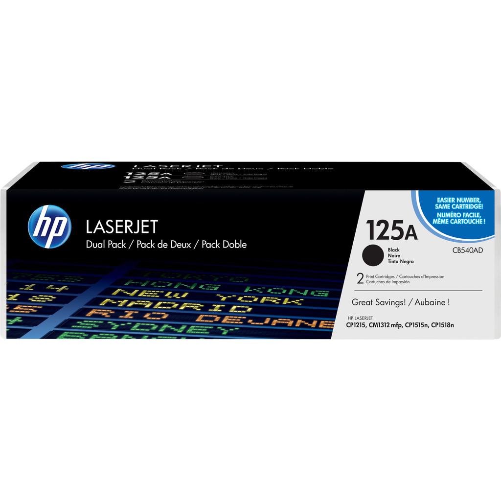 HP 125A Color LaserJet Toner Black (zwart) (CB540A)