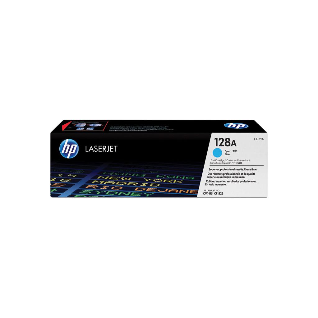 HP 128A Cyan LaserJet Toner (blauw) (CE321A)