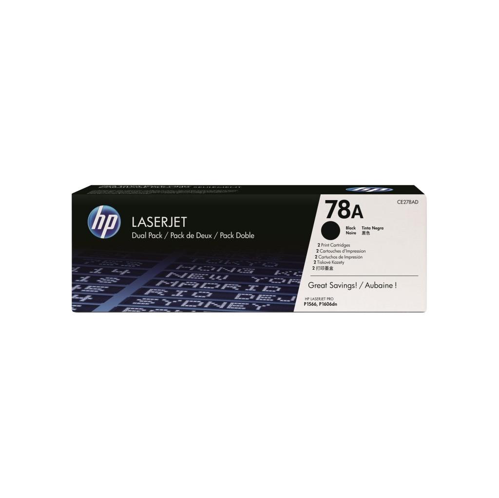 HP 78AD LaserJet Toner Zwart Dual Pack (CE278AD)