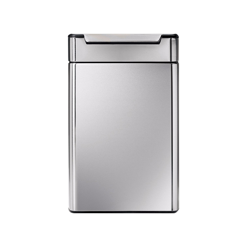 Simplehuman Rectangular Touch Bar Recycler 24 + 24 Liter