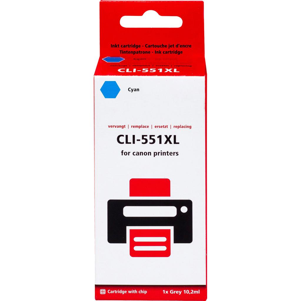 Pixeljet CLI-551XL Cyaan voor Canon printers (6444B001)