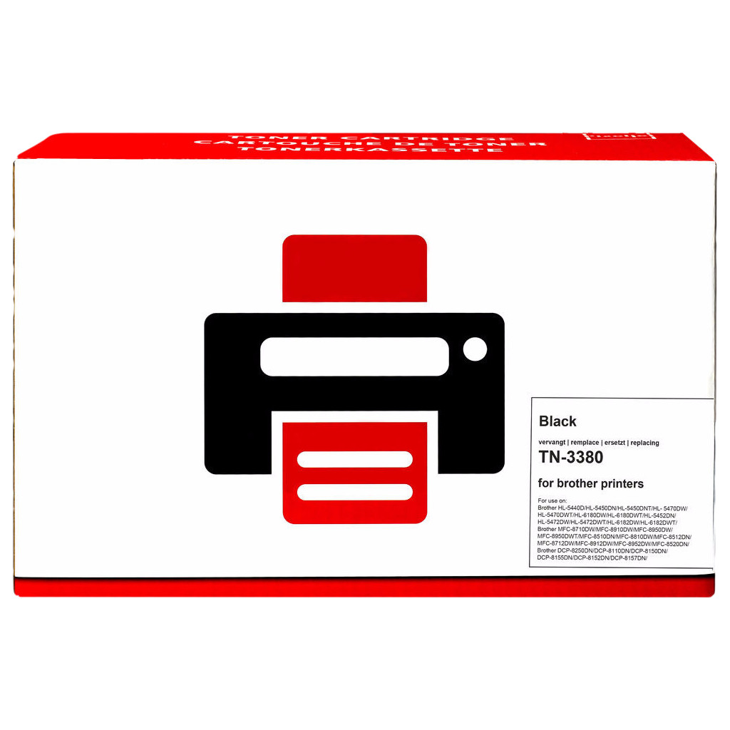 Pixeljet TN-3380 Toner Zwart XL voor Brother printers (TN-3380)