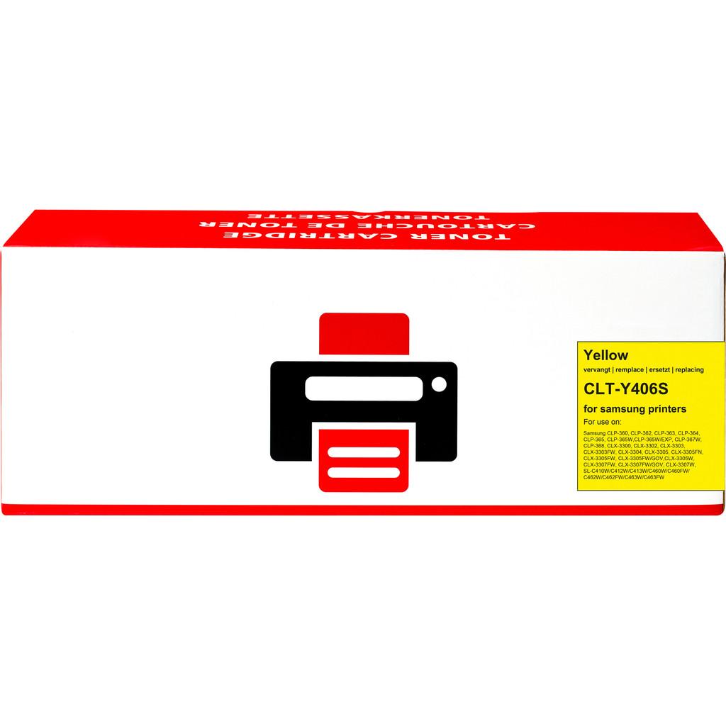 Pixeljet CLT-Y406S Toner Geel voor Samsung printers