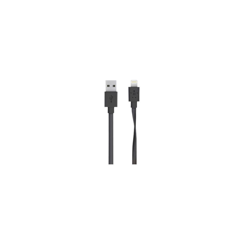 Belkin Flat Lightning USB Kabel Zwart