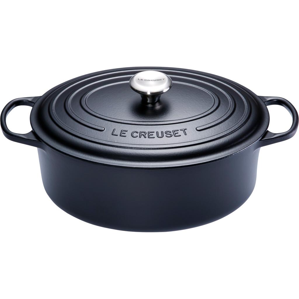 Le Creuset Ovale Stoof-/Braadpan 27 cm Zwart