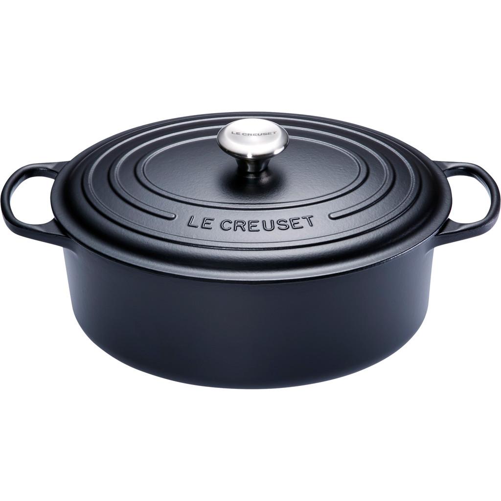 Le Creuset Ovale Stoof-/Braadpan 31 cm Zwart