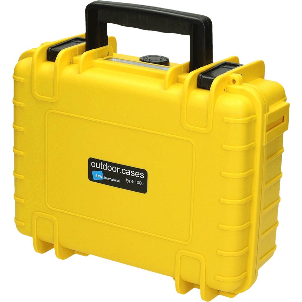 B&W type 1000 geel met plukschuim