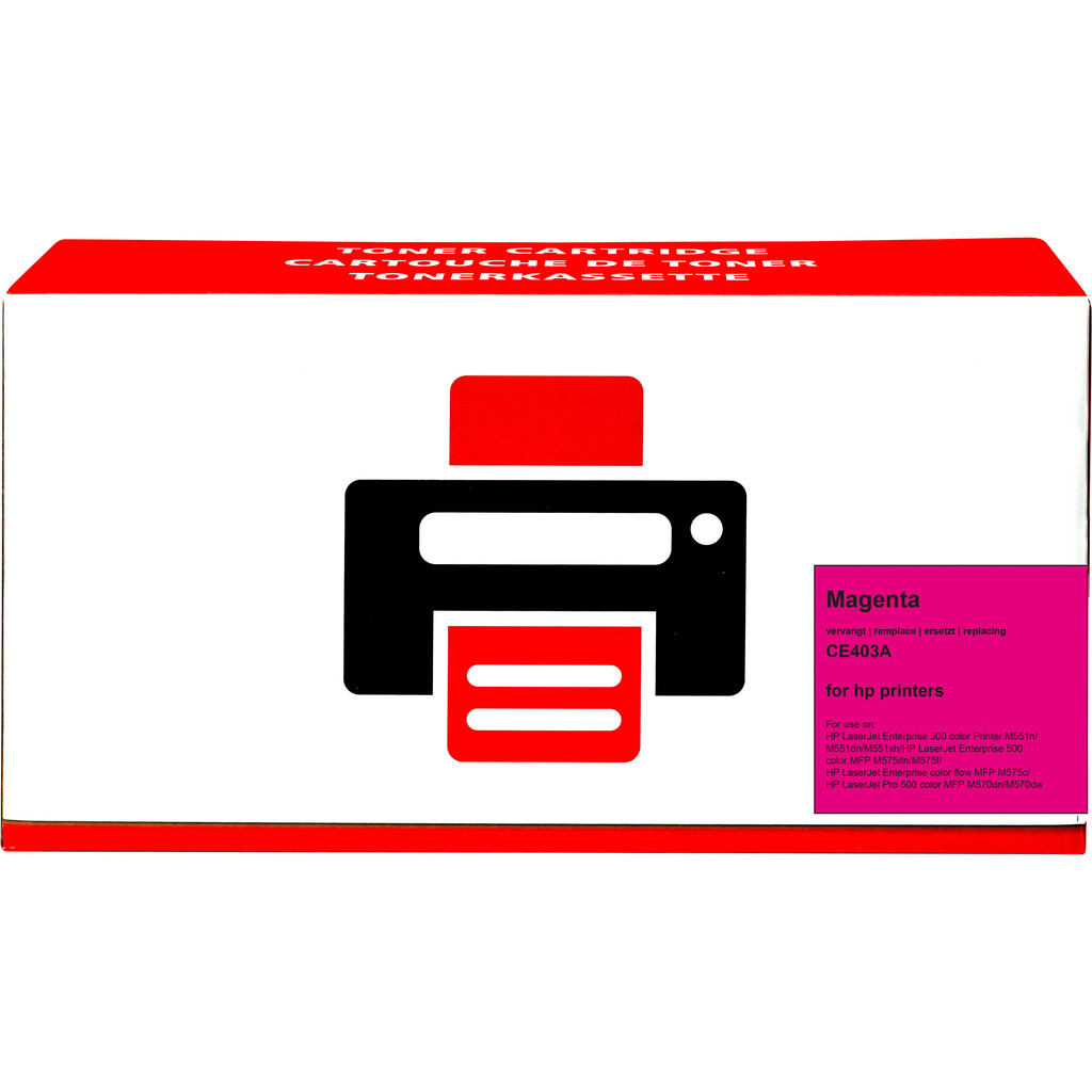 Pixeljet 507A Toner Magenta voor HP printers (CE403A)